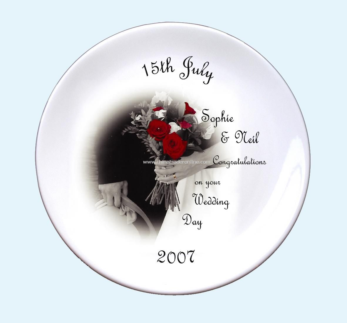 Wedding Day Bouquet Plate