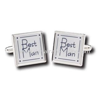 Best Man Cufflinks with personalised box