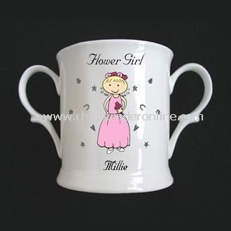 Flower Girl Bone China Loving Cup