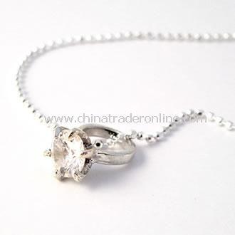 Little Girls Big Swarowski Crystal Ring Necklace