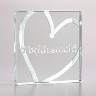 Miniature Glass Token Bridesmaid