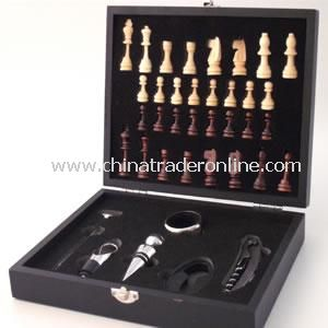 Personalised Bar, Wine and Chess Set