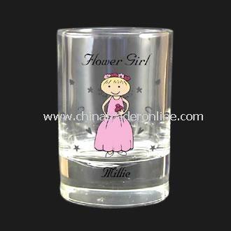 Personalised Flower Girl Juice Glass