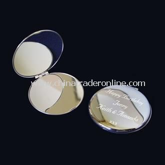 Personalised Silver Plated Compact Mirror