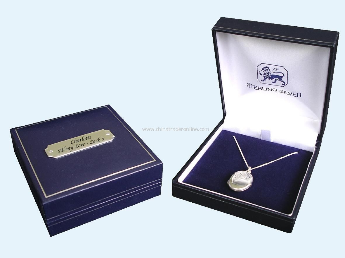 Photo Locket Necklace with Personalised Gift Box