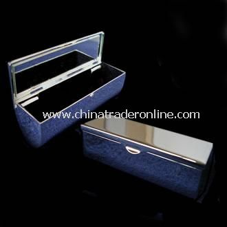 Silver Plated Lipstick Holder and Mirror