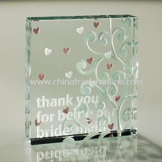 Thank You Bridesmaid Medium Paperweight