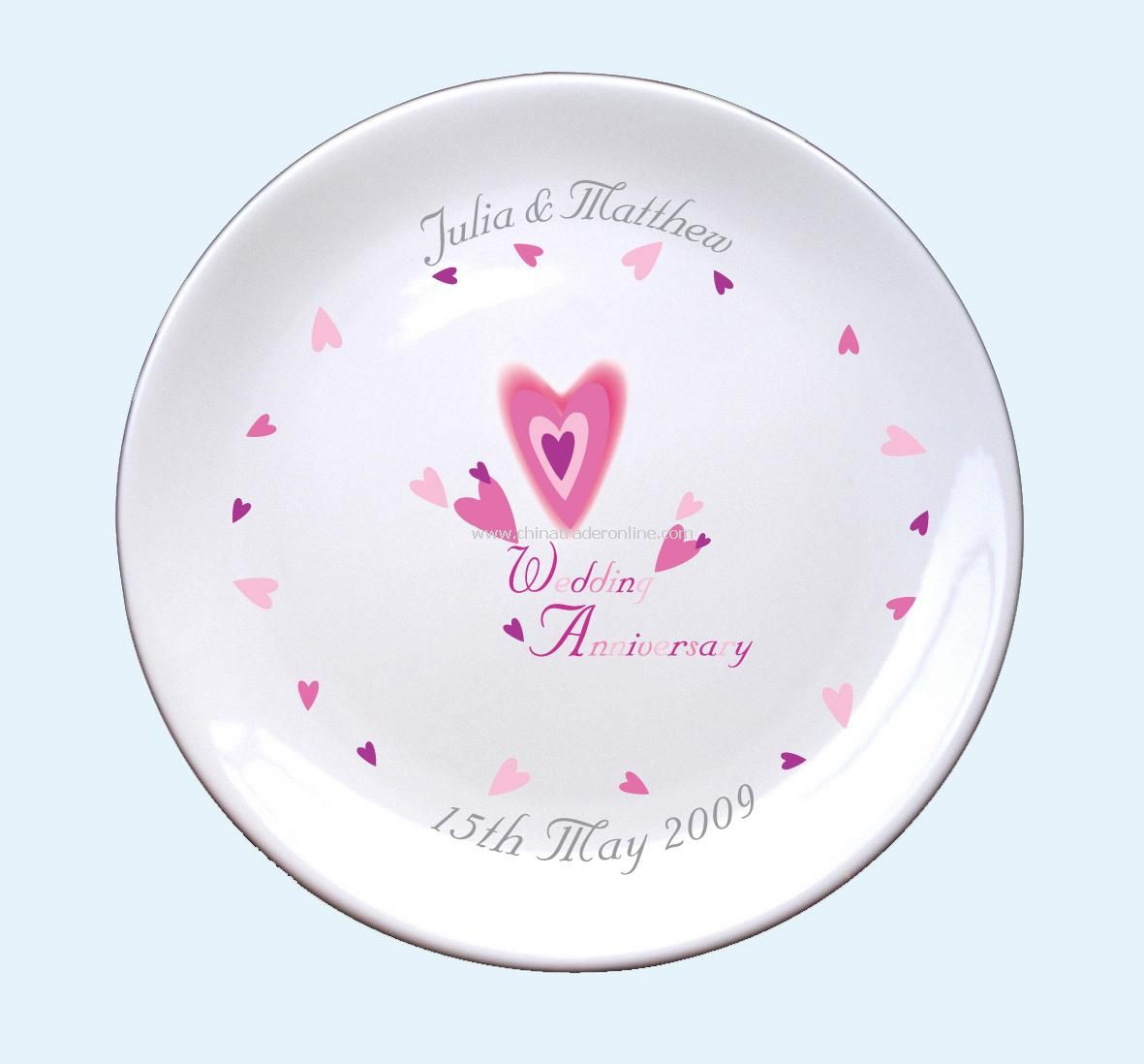 Wedding Plate from China
