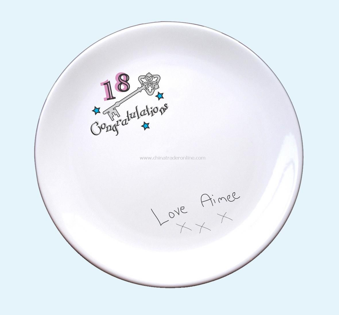 18th & 21st Birthday Signature Plate