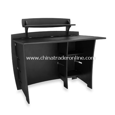 Black Desk with PDA Shelf from China