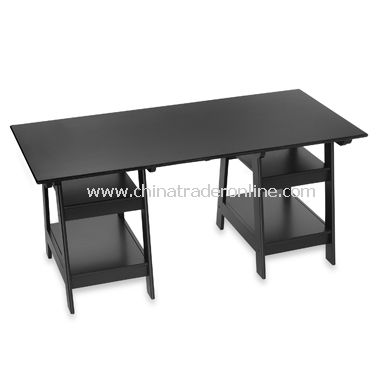 Black Trestle Desk from China