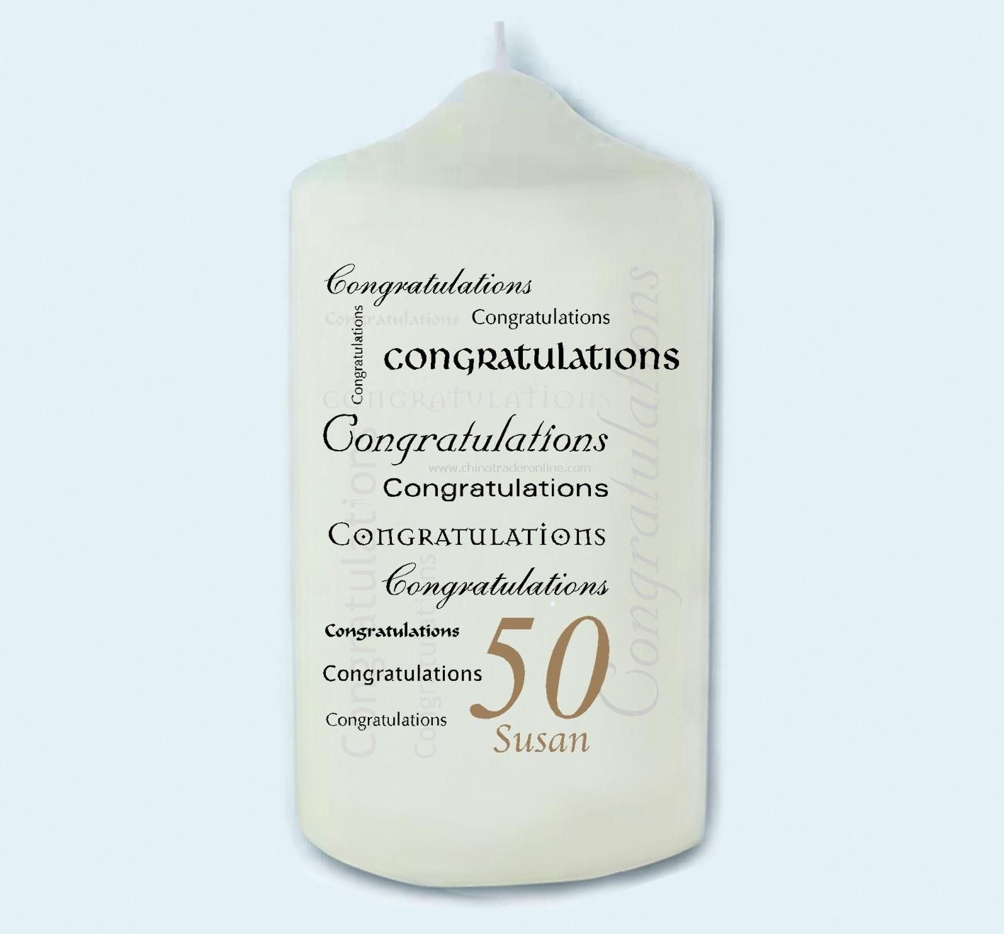 Congratulations Age Candle