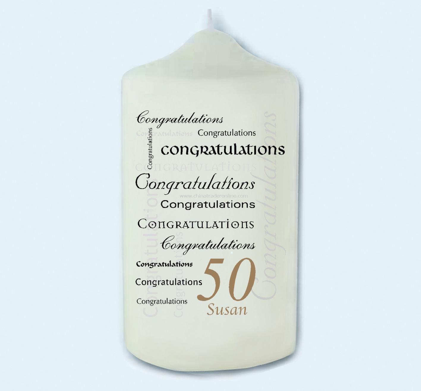 Congratulations Age Candle