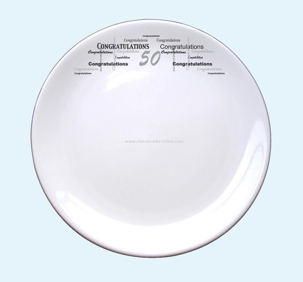 Congratulations Age Signature Plate