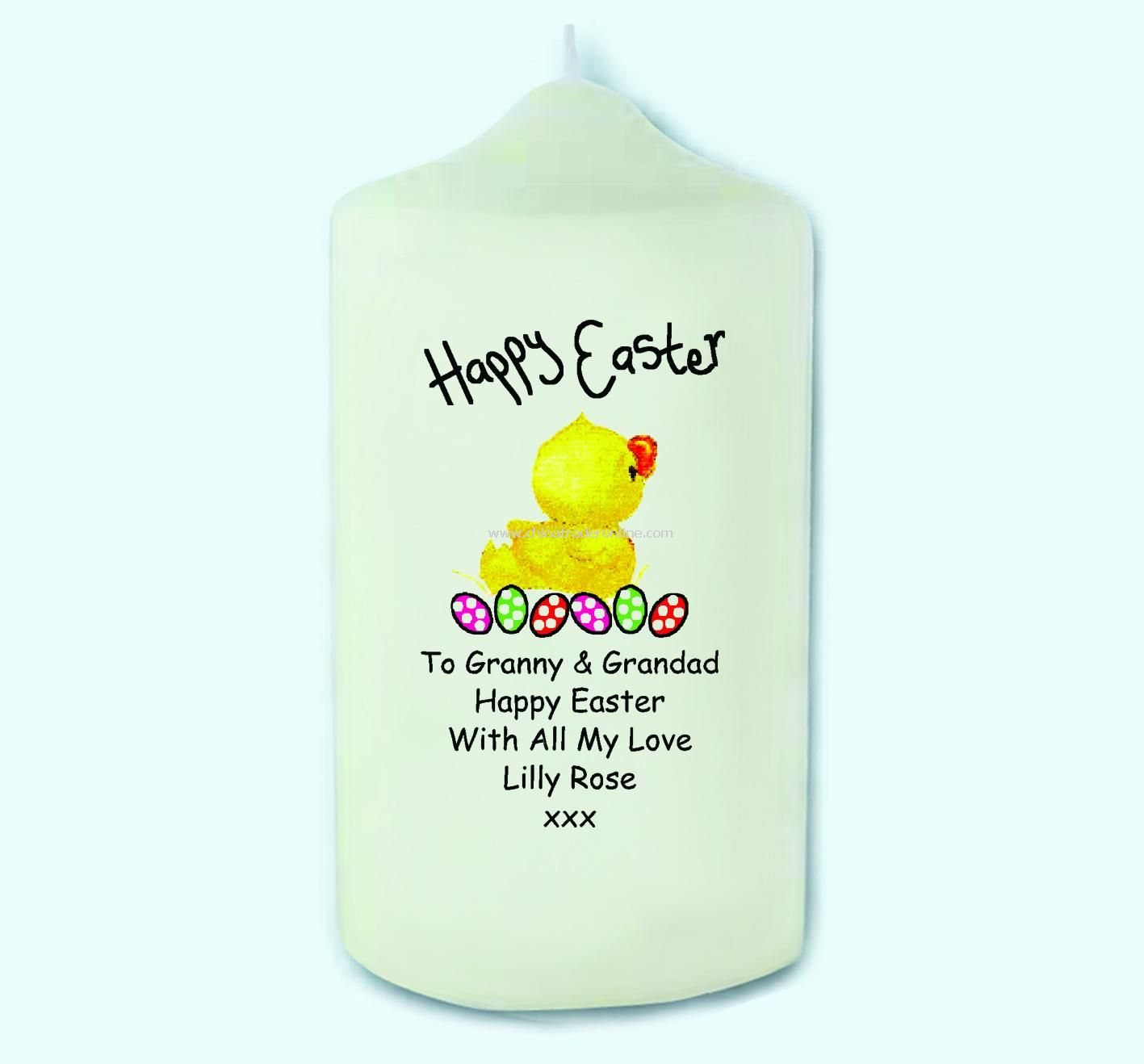 Easter Chick Candle
