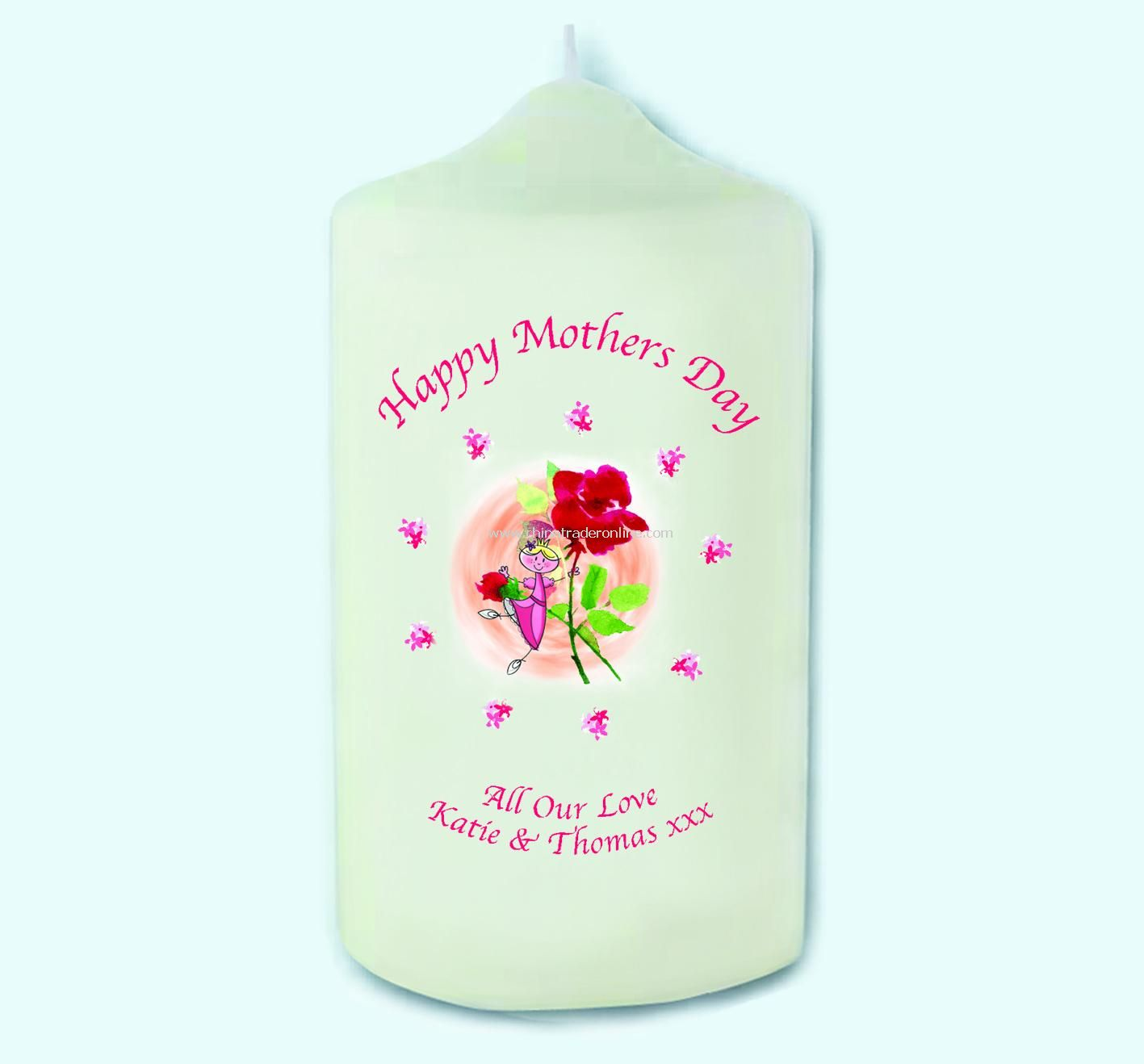 Fairy Rose Mothers Day Candle