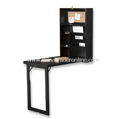 Fold-Out Convertible Desk - Black from China