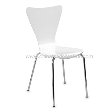 Legare White Bent Plywood Chair