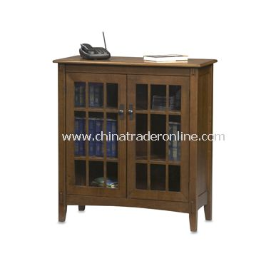 wholesale Linon Mission Style Two Door Cabinet with Glass Insets ...
