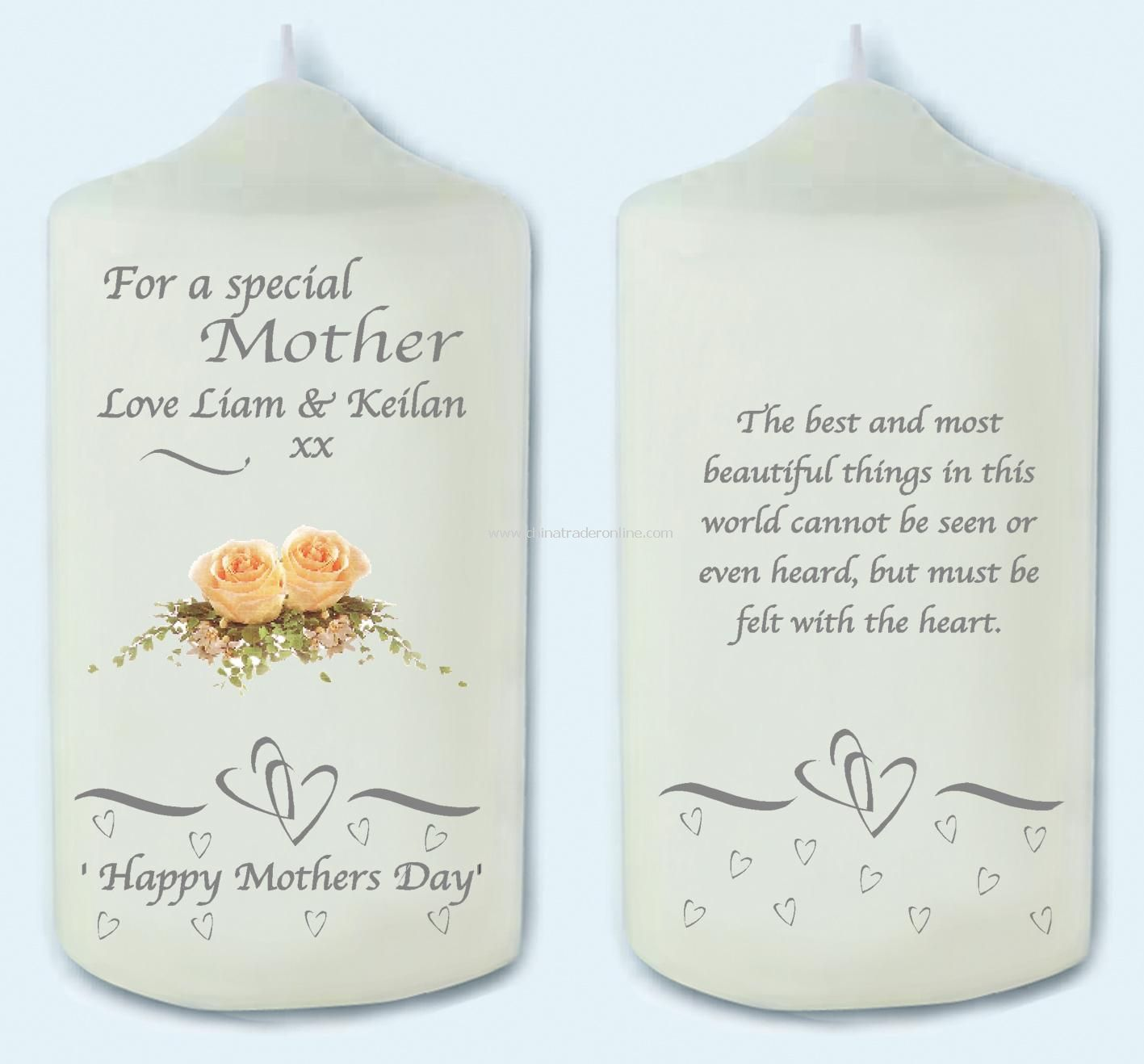Mothers Day Rose Candle