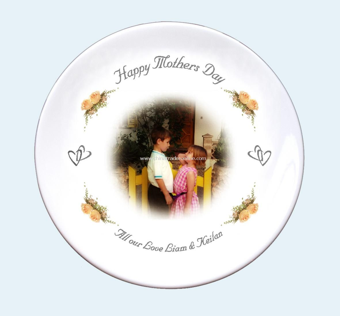 Mothers Day Rose Photo Plate