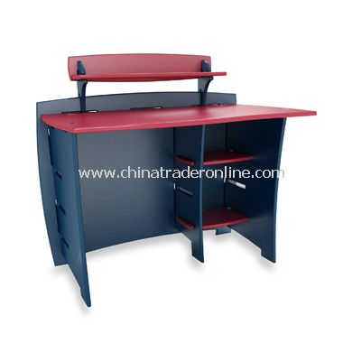 Navy/Red Desk with PDA Shelf