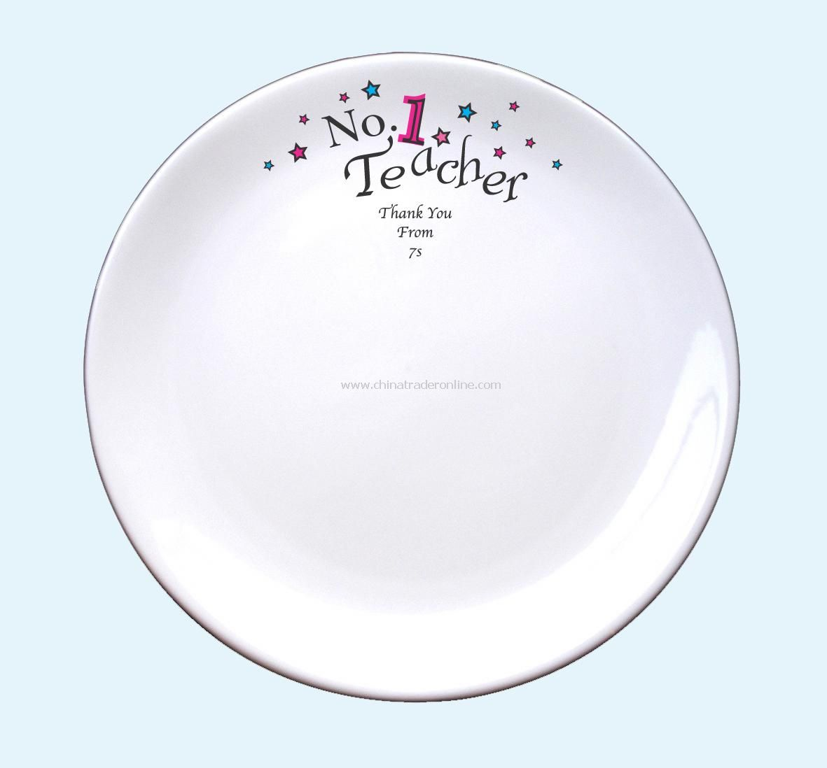 No 1 Teacher Signature Plate