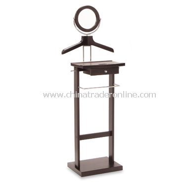Valet Stand with Mirror and Drawer