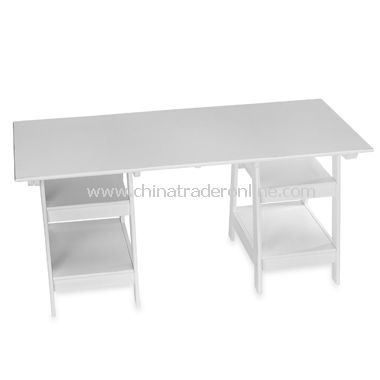 White Trestle Desk from China