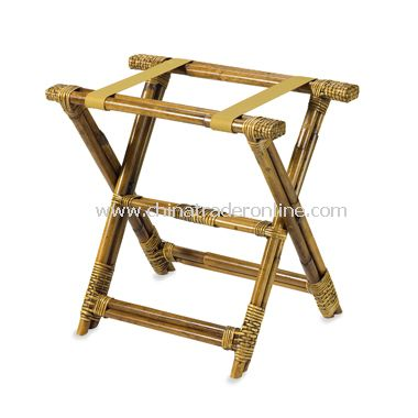 Bamboo Rattan Luggage Rack