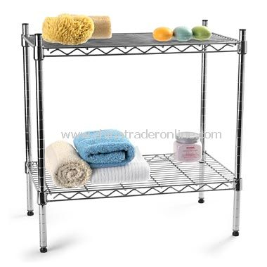 Chrome Two-Shelf Stacker from China