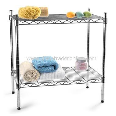 Chrome Two-Shelf Stacker