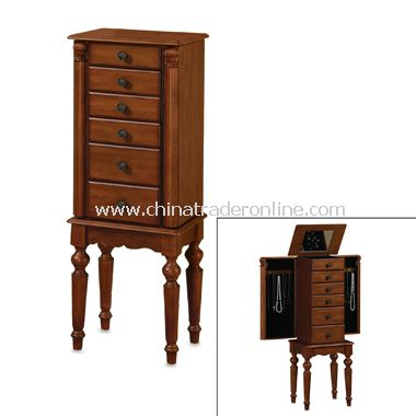 Distressed Cherry Jewelry Armoire
