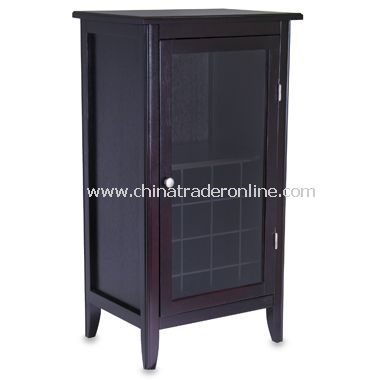 Wholesale espresso finished 16 bottle wine cabinet buy for 16 bottle wine cabinet with glass door espresso