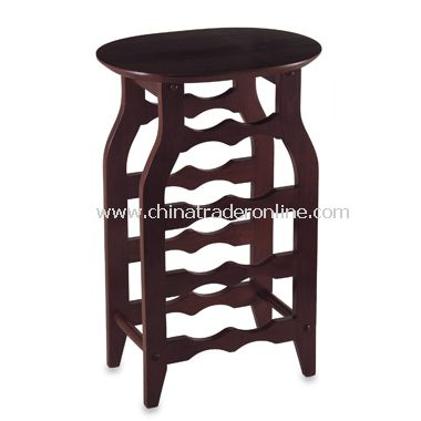 Espresso Oval Top Wine Rack from China