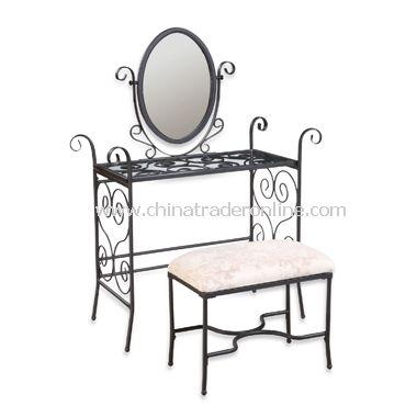 Garden District Vanity, Mirror & Bench Set