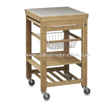 Granite Bamboo Kitchen Cart