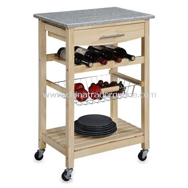 Granite Natural Kitchen Cart
