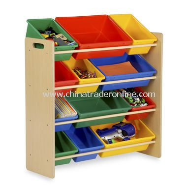 Honey-Can-Do Kids Toy Organizer and Storage Bins - Natural