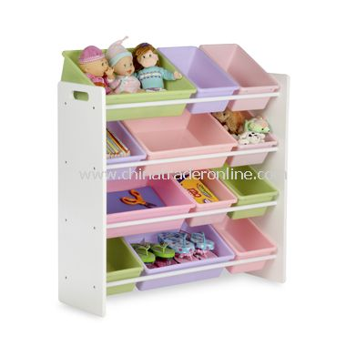 Honey-Can-Do Kids Toy Organizer and Storage Bins - Pastel