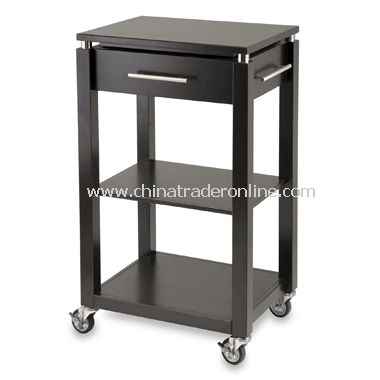Linea Kitchen Cart with Chrome Accents