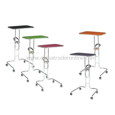 Lucent Mobile Laptop Cart with Glass Top