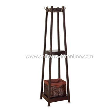 Nepal Coat Rack with Drawer Basket
