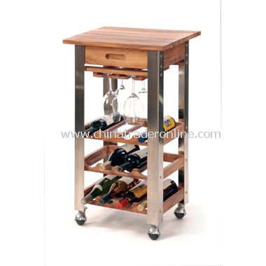 Oenophilia Kitchen Wine Trolley