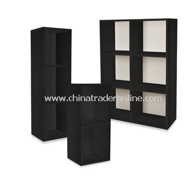 Way Basics Eco Friendly Tool-Free Bookcase and Storage - Black