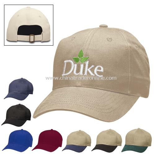 6-Panel Brushed Twill Cap - Screen Printed