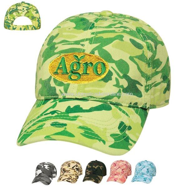 Camouflage Cap-Embroidered