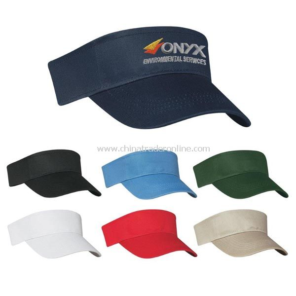 Cotton Twill Visor - Embroidered