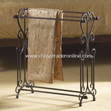 Dark Bronze Twisted Iron Blanket Rack from China