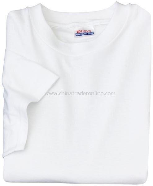 Hanes 50/50 Cotton/Poly T-Shirt - White